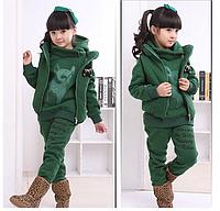 Детский флисовый костюм на девочку тройка