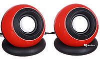 Компьютерные колонки акустика USB 2.0 D008 Red