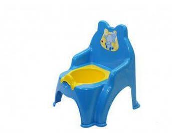 Детский горшок-стульчик детский (голубой)