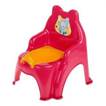 Детский горшок-стульчик (малиновый)