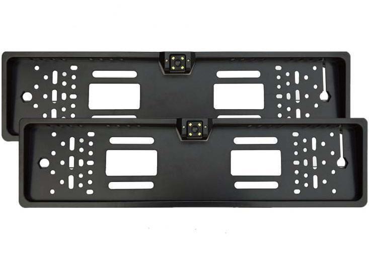 Рамка Black 16Led, Камера заднего вида в авто номерной рамке, Камера в номерной рамке с подсветкой