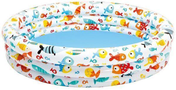 """Бассейн 59431 детский Тропические рыбки"""" 132*28см, Бассейн для детей от 3 до 6 лет,Надувной бассей для ребенка"""