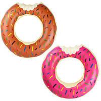 Круг 70см BT-IG-0058 пончик 2цв, Детский круг в виде пончика, Надувной круг для плавания, Круг для воды