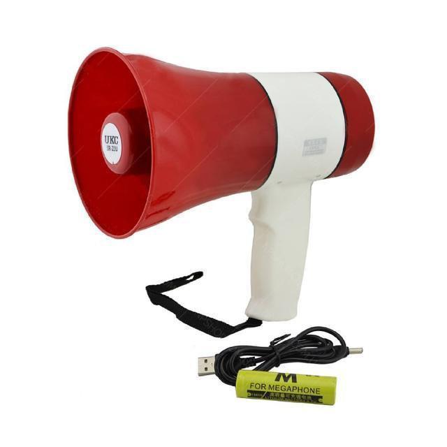 Громкоговоритель MEGAPHONE ER 22 UKC, Всепогодный аккумуляторный громкоговоритель, Рупор ручной