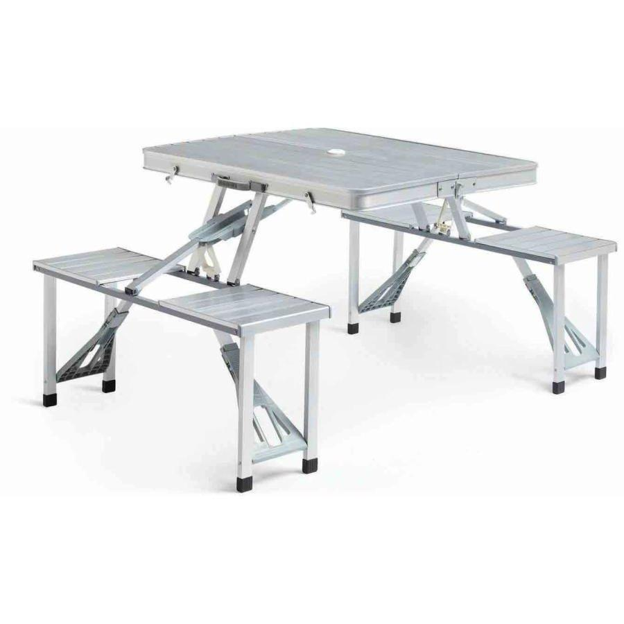 Складной алюминиевый стол для пикника со стульями 174, Кемпинговый стол, Мебель на природу, Дачная мебель
