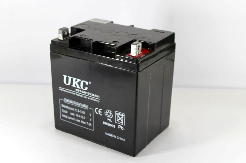 Аккумулятор BATTERY 12V 24A, Универсальный аккумулятор, Гелеобразный аккумулятор, Аккумуляторная батарея