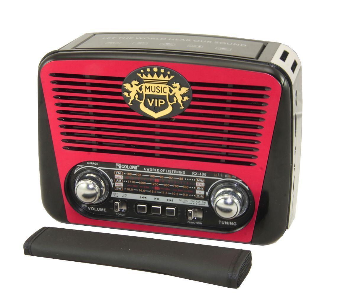 Радио RX 436, Радиоприемник от батареек, Аккумуляторное радио, Портативная колонка, Радиоколонка