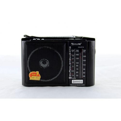 Радио RX BT16, Радио портативная колонка MP3, Блютуз колонка, Колонка от аккумулятора, Радиоприемник