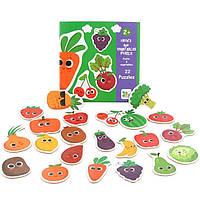 Деревянные пазлы для малышей овощи и фрукты