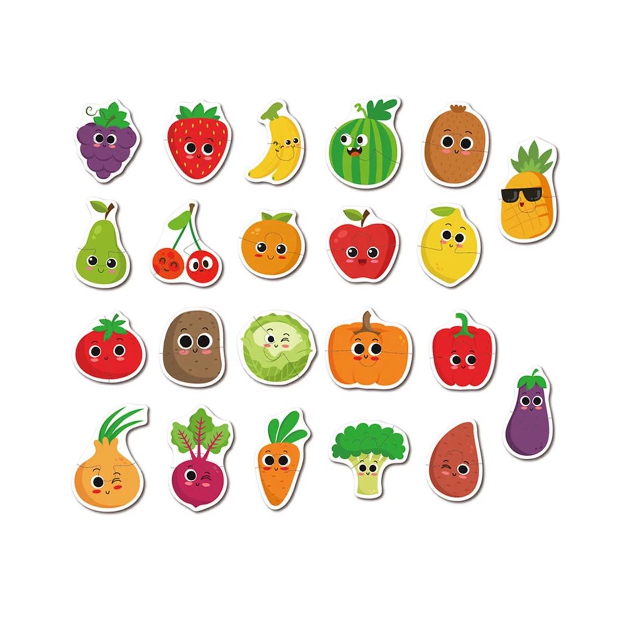 Деревянные пазлы для малышей овощи и фрукты: продажа, цена ...