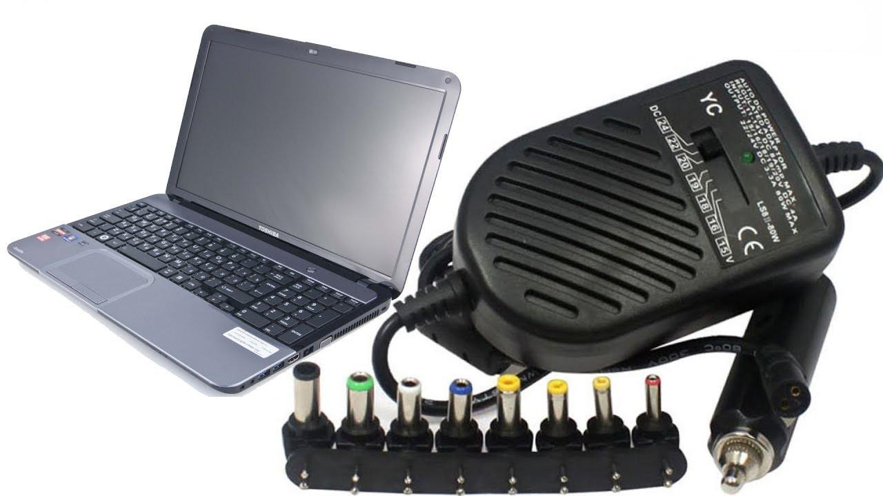 Автомобильное зарядное для ноутбука 80W универсальная зарядка в машину