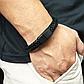 Мужской кожаный браслет. Черный. Магнитная застежка, фото 2