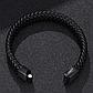 Мужской кожаный браслет. Черный. Магнитная застежка, фото 6