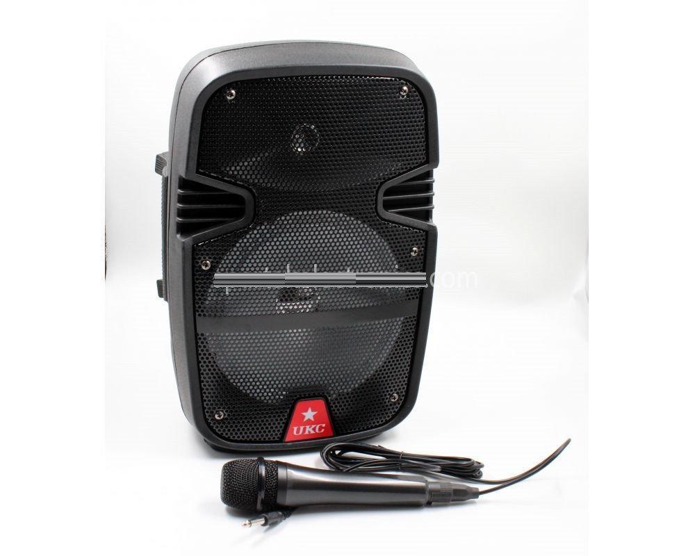Портативная колонка UKC 8 / RE 258 + проводной микрофон, Акустическая система, Переносная колонка для караоке