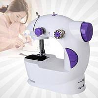 Швейная машинка FHSM 201 с адаптером, Мини швейная машинка, Машинка для шитья, Швейная машина для дома