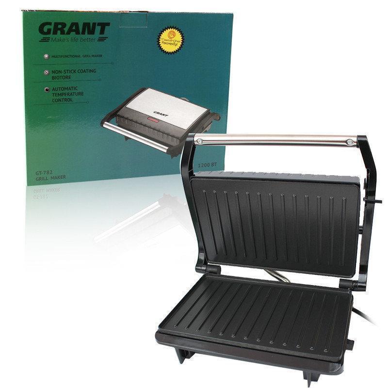 Многофункциональный гриль GRANT GT 782 1200W, Закрытый гриль, Сэндвичница-гриль, Электрический гриль