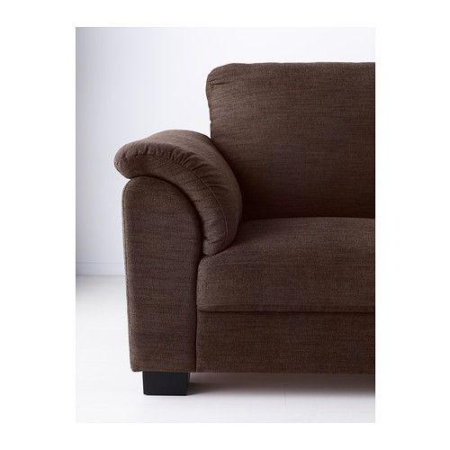 """IKEA """"ТИДАФОРС"""" Диван двухместный, Хенста темно-коричневый"""