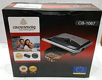BBQ Grill CB 1067 Crownberg, Электрический прижимной гриль, Контактный гриль с терморегулятором, Барбекю, фото 1