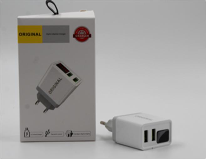 Adopter 220v 2 usb with digital disply CX QC03 адаптер с дисплеем, Адаптер с двумя юсб, Адаптер зарядка