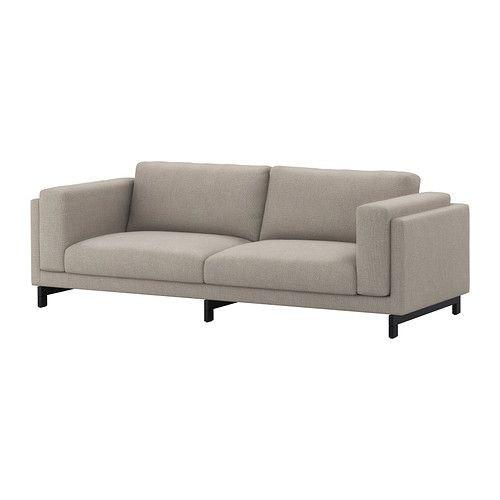"""IKEA """"НОКЕБИ"""" Диван-кровать трехместный, Тено светло-серый,дерево"""