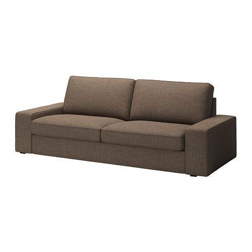 "IKEA ""КИВИК"" диван трехместный, Исунда коричневый"