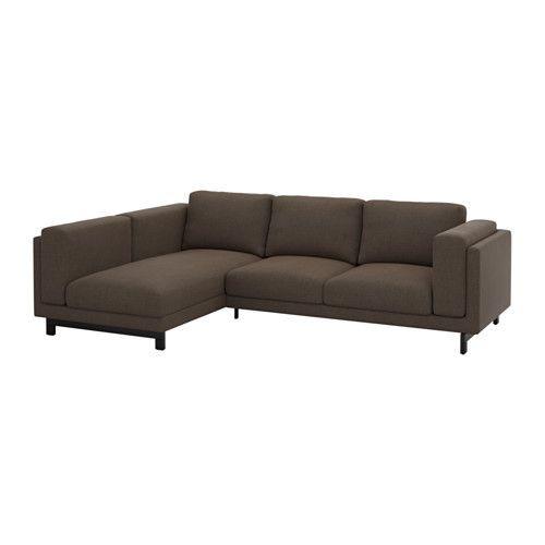 """IKEA """"НОКЕБИ"""" двухместный диван с козеткой c левой стороны,Тено коричневый дерево"""