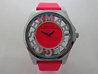 Женские часы  Marc by Marc Jacobs - цвет серебро, прозрачные, ярко розовые