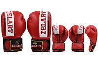 Перчатки боксерские ZELART ZB-4277-R (рр 10 oz, красный)