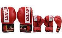 Перчатки боксерские ZELART ZB-4277-R (рр 12 oz, красный)