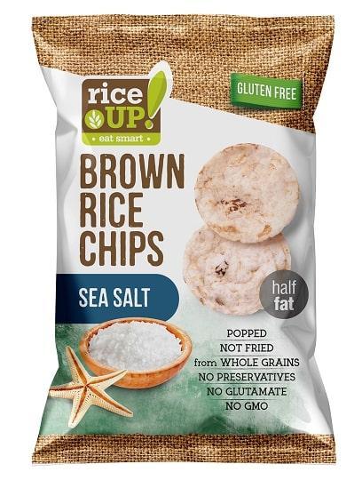 Рисовые чипсы Rice up! с солью 60 г