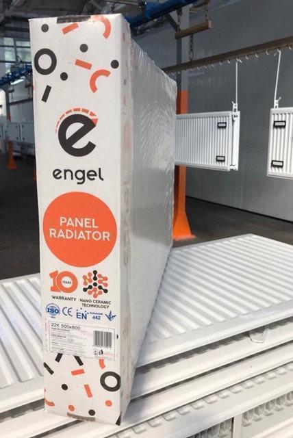 Сталевий радіатор Engel 300х1400 тип 22 бокове підключення