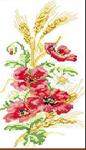 Набор алмазной вышивки Маки с колосками пшеницы
