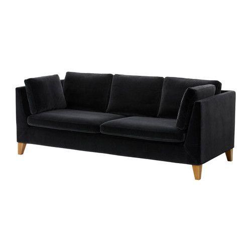 """IKEA """"СТОКГОЛЬМ""""  диван трехместный , Сандбака черный"""