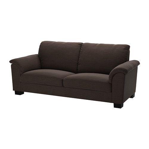 """IKEA """"ТИДАФОРС"""" диван трехместный, Хенста темнокоричневый"""