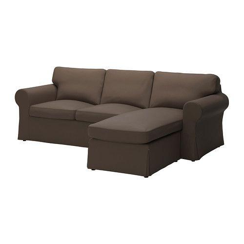 """IKEA """"ЭКТОРП"""" диван двухместный с козеткой,  Йонсбода коричневый"""