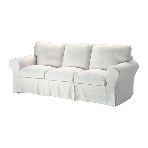 """IKEA """"ЭКТОРП"""" диван трехместный, Стенаса белый"""
