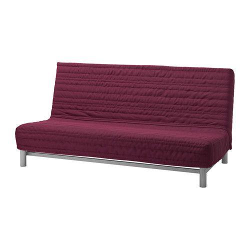 """IKEA """"БЕДИНГЕ ЛЁВОС"""" Диван-кровать 3-местный, Книса малиновый"""