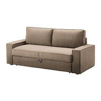 "IKEA ""ВИЛАСУНД / МАТТАРП"" Диван-кровать 3-местный, Дансбу бежевый, фото 1"
