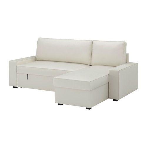 "IKEA ""ВИЛАСУНД / МАТТАРП"" Диван-кровать с козеткой, Виттарид светло-бежевый"
