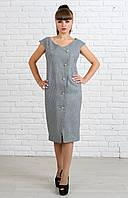 Офисное женское платье, размеры 44 - 56, фото 1