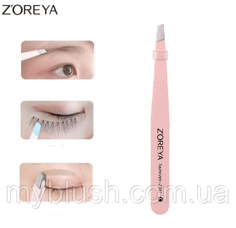 Пинцет для бровей Zoreya TWEEZERS-2381 Rose