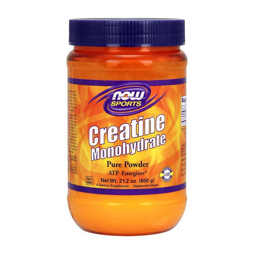 Креатин моногидрат NOW Creatine 600 g натуральный вкус