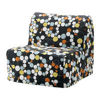 """IKEA """"ЛИКСЕЛЕ ЛЁВОС"""" Кресло-кровать, Больста разноцветный, фото 1"""
