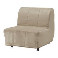 """IKEA """"ЛИКСЕЛЕ ЛЁВОС"""" Кресло-кровать, Хенон бежевый, фото 1"""