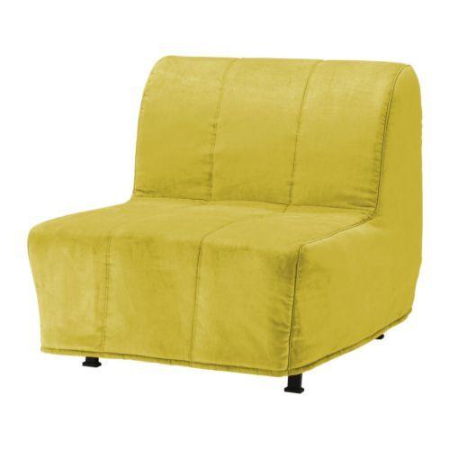 """IKEA """"ЛИКСЕЛЕ ЛЁВОС"""" Кресло-кровать, Хенон желтый"""