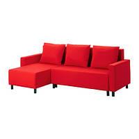 """IKEA """"ЛУГНВИК"""" Диван-кровать с козеткой, Гранон красный, фото 1"""