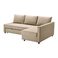 "IKEA ""ФРИХЕТЭН"" Диван-кровать угловой, Шифтебу бежевый"