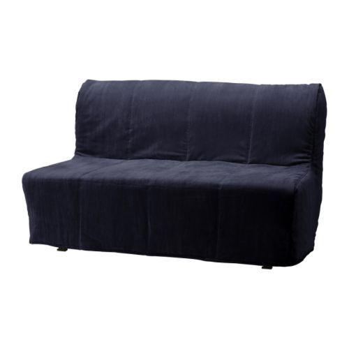 """IKEA """"ЛИКСЕЛЕ ЛЁВОС"""" Диван-кровать 2-местный, Хенон черный"""