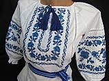 """Вышиванка нарядная """"Веночек"""" с красной вышивкой, 92-98 рост 300/280 (цена за 1 шт. + 20 гр.), фото 3"""