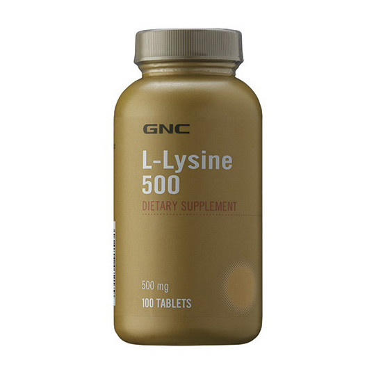 Лизин GNC L-lysine 500 100 tabs